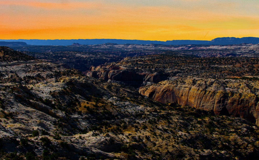 Sunset Over Utah Landscape
